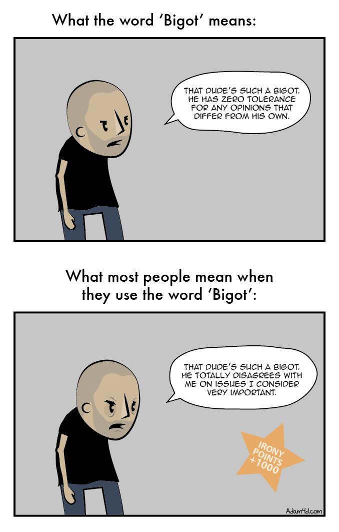 Disagree with this comic? Bigot!