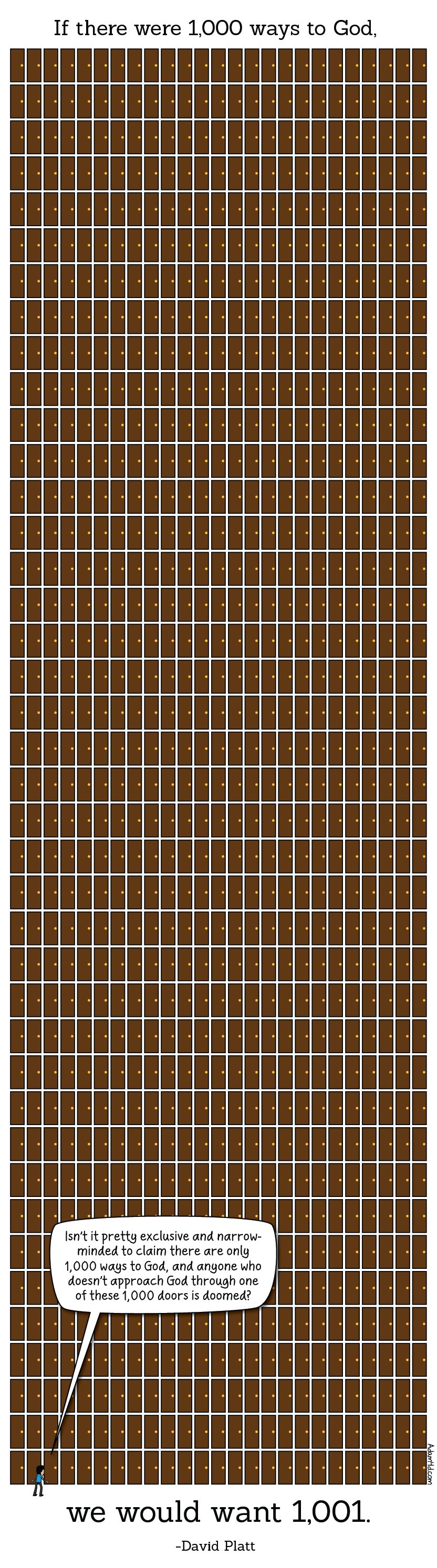 Are there really 1000 doors in this image? Why, yes. Yes there are.