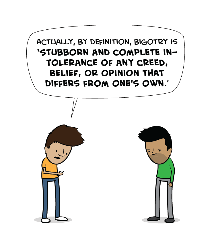 The authors of the dictionary are, clearly, also bigots