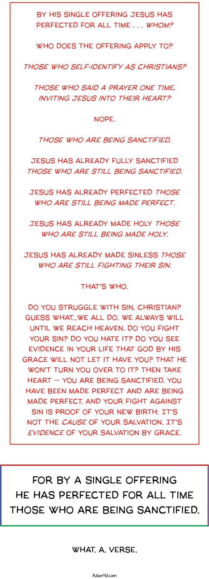 Hebrews 10:14tw