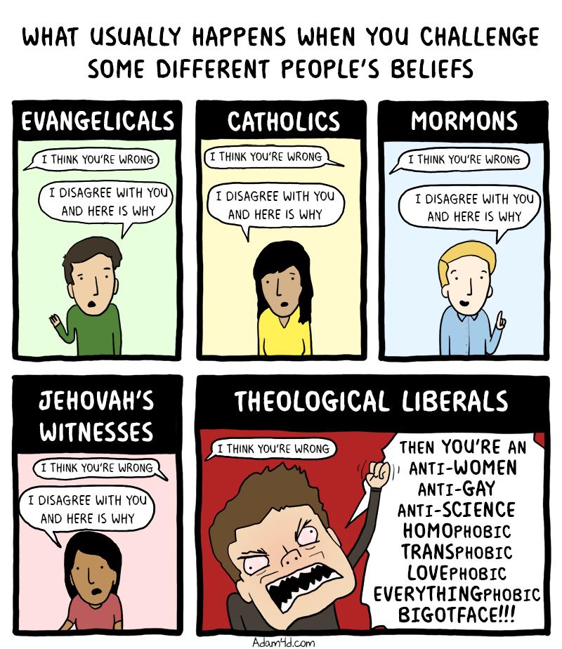 If you disagree then you're an anti-comic bigotface.