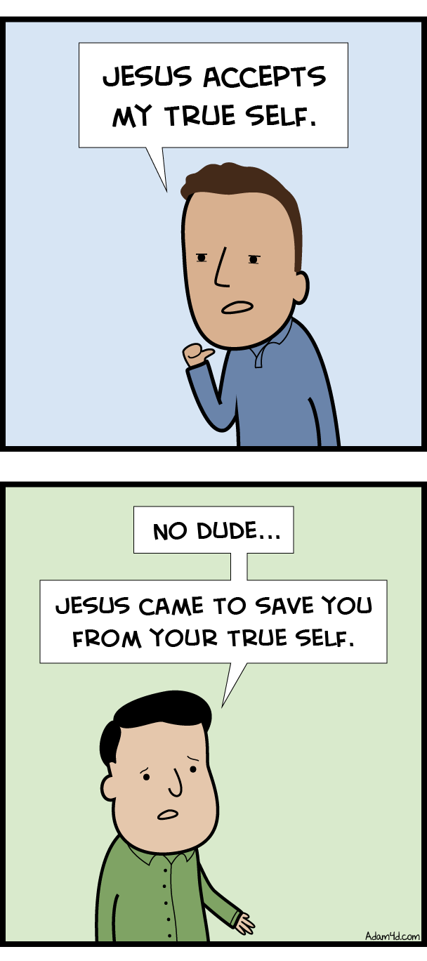 Jesus wants to kill your true self. And give you a new self.