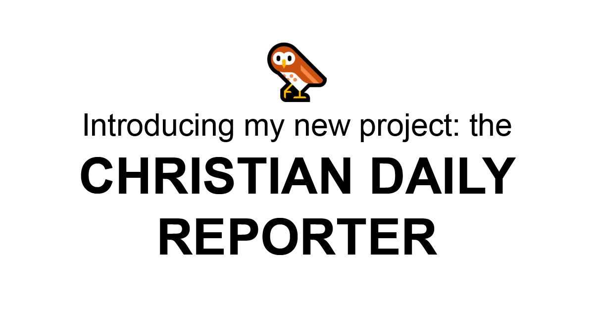 Reformed Theology Adam Ford's just launched his next project: the Christian Daily Reporter (Real News!)  Calvinism