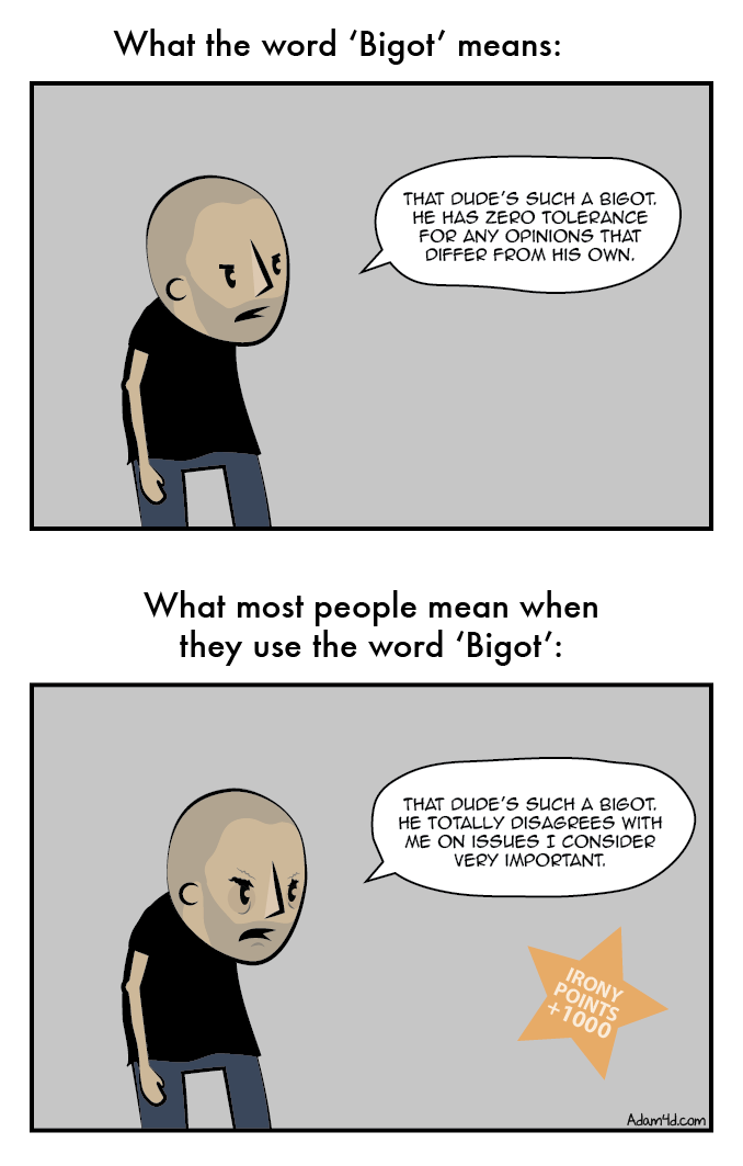 Disagree with this comic? Bigot!